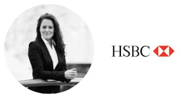 Alexandra Vidyuk and HSBC